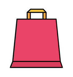 shopping bag on white background vector image