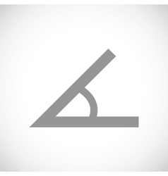 Sign of the angle black icon vector