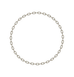 Silver chain in shape of circle vector