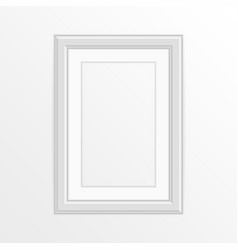 single white photo frame vector image