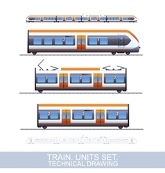 Speed Train vector image