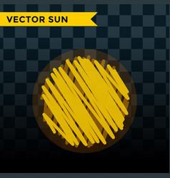 sun burst star icon summer vector image