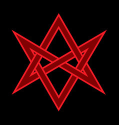 the horns of asmodeus mystical unicursal hexagram vector image