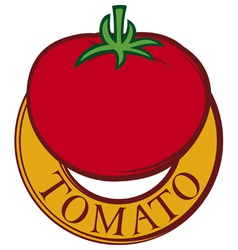 Tomato label design vector
