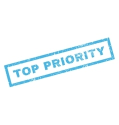 Top Priority Rubber Stamp vector