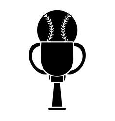 Trophy baseball sport image pictogram vector