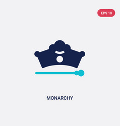 Two color monarchy icon from fashion concept vector