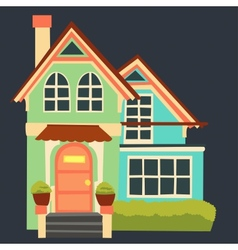 vintage cartoon house vector image