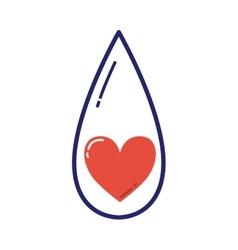 Volunteer blood donation icon vector image