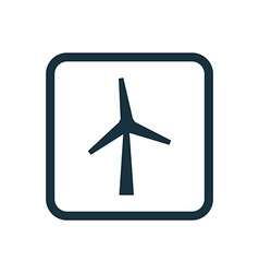 Wind mill icon Rounded squares button vector