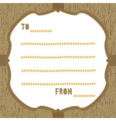 Wood pattern card3 vector image