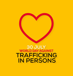 World day against trafficking in persons vector