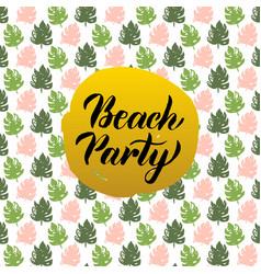 beach party design vector image vector image