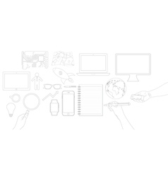 business object flat icons design vector image vector image