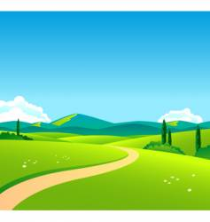 countryside day vector image vector image