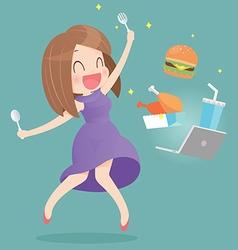 FOOD ONLINE vector image vector image