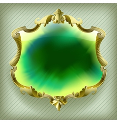 Gold baroque frame vector image vector image