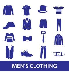 mens clothing icon set eps10 vector image
