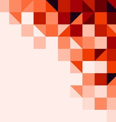 Red tiled background vector image