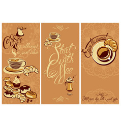 set of template flayer or menu design for vector image