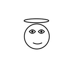 angel emotion icon vector image