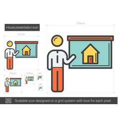 House presentation line icon vector