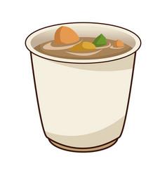 japanese soup ramen food menu restaurant vector image vector image