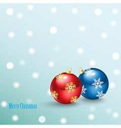 Merry Christmas Background with balls vector image vector image