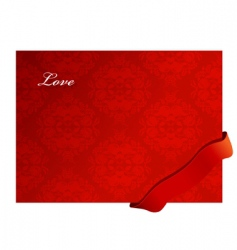 valentine background with ribbon vector image vector image