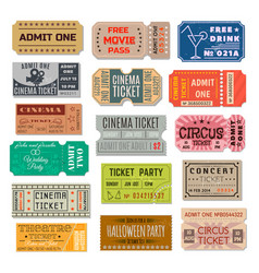 event ticket collection vector image