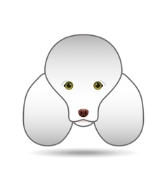 poodle dog face design icon vector image vector image