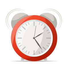 red alarm clock with bells icon vector image vector image