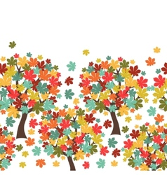 Seamless pattern of stylized autumn trees for vector image vector image