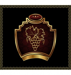 gold label for packing wine vector image