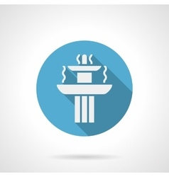 Landscaping fountain blue round icon vector image