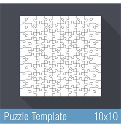 Puzzle Template 10x10 vector image vector image