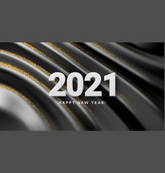 2021 realistic golden 3d inscription on the vector image