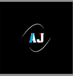 A j letter logo creative design on black color vector