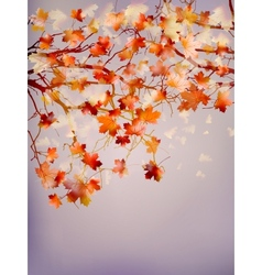 Abstract autumn tree background EPS 10 vector image
