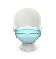 abstract head wearing protective mask simple vector image