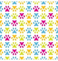 Animal seamless pattern paw footprint endless vector