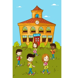Back to school education kids cartoon vector image