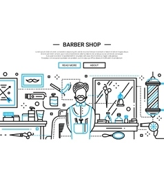 Barber Shop In the City - website banner vector image vector image