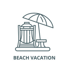 beach vacation line icon linear concept vector image