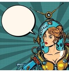 Beautiful futuristic girl close up vector image