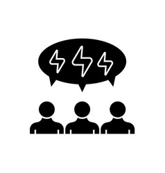 brainstorming people black concept icon vector image