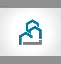building construction shape logo vector image