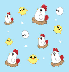 chicken pattern vector image