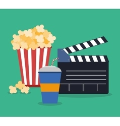Cinema design Movie concept Flat vector