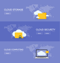 cloud coputing storage service and security vector image